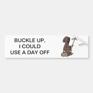 """Buckle Up"" Bumper Sticker"