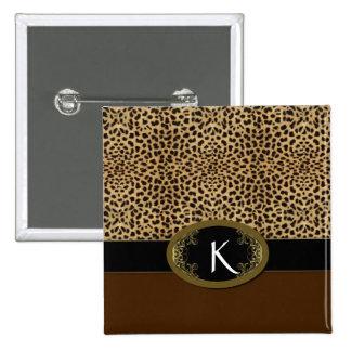 Buckle Up Leopard Button