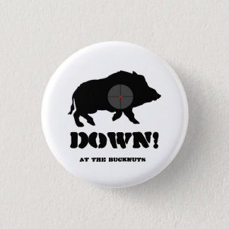 Bucknuts Black Hog Down Button