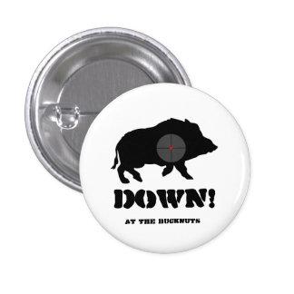 Bucknuts Black Hog Down Button
