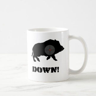 Bucknuts Black Hog Down Mug
