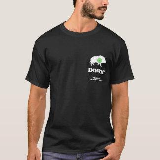 Bucknuts Black Hog Down T-Shirt dark design