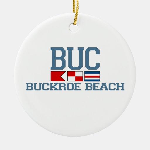 Buckroe Beach. Round Ceramic Decoration