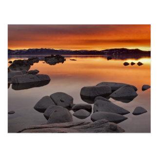 Buck's Beach Sunset, Lake Tahoe... Postcard