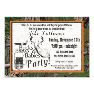 Bucks Beer and Babies Shower 13 Cm X 18 Cm Invitation Card