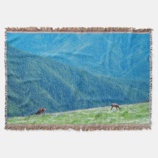 Bucks by the Mountains Throw Blanket