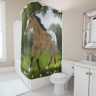 Buckskin Appaloosa Horse Shower Curtain