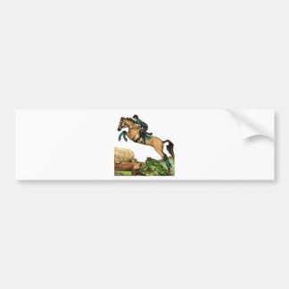 buckskin big leap xc HORSE ART Eventing Bumper Sticker