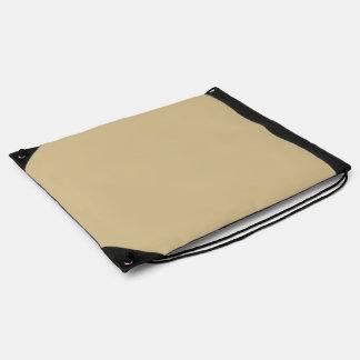 Buckskin color drawstring backpack