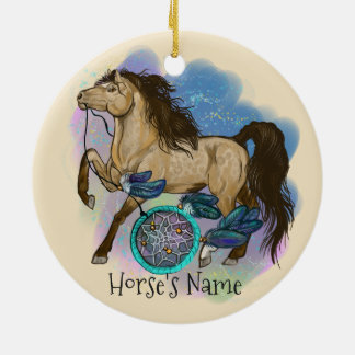 Buckskin Dreamcatcher Horse ornament