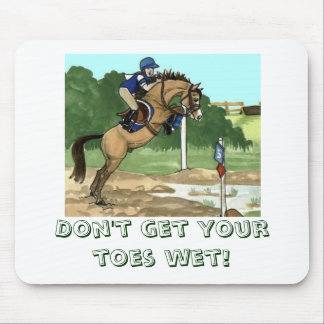 """Buckskin Horse Art """"Don't get toes wet"""" Mouse Pad"""