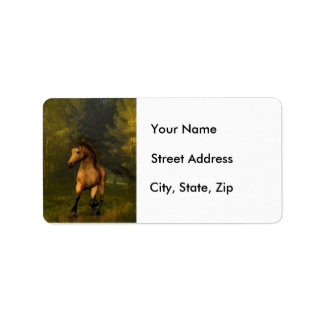 Buckskin Horse in the Forest - Address Labels