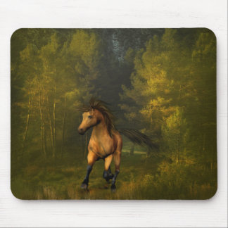 Buckskin Horse in the Forest Mousepad
