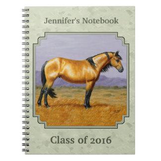 Buckskin Horse Mustang Stallion Sage Green Notebooks