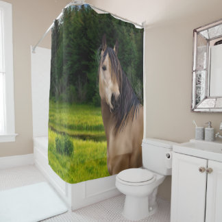 Buckskin Horse Print Shower Curtain