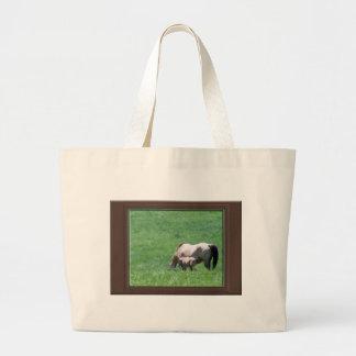 Buckskin Horses Tote Bags