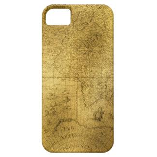 Buckskin Leather Vintage world map iPhone 5 Cases
