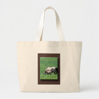 Buckskin Mare and Foal Canvas Bags