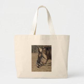 Buckskin Mare head study Tote Bags