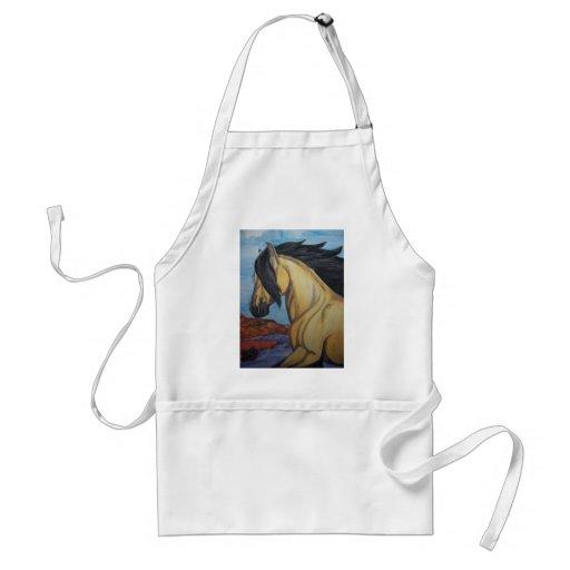 Buckskin Mustang in the canyon Aprons