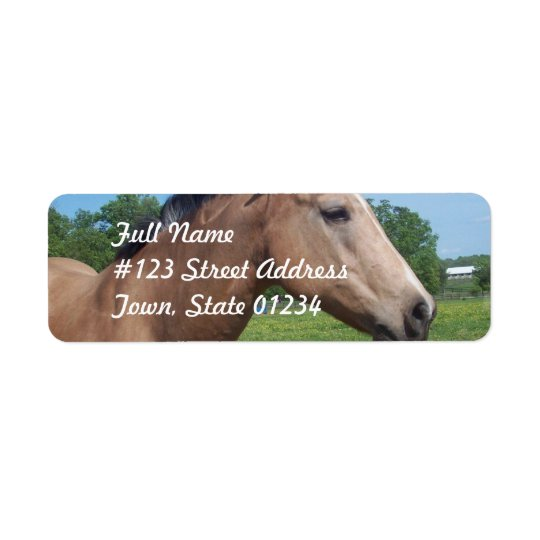 Buckskin Mustang Mailing Label Return Address Label