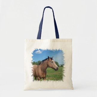 Buckskin Mustang Small Tote Bag