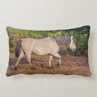Buckskin New Forest Pony Wildlife Throw Pillows