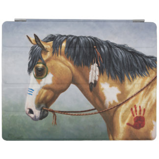 Buckskin Pinto Native American War Horse iPad Cover