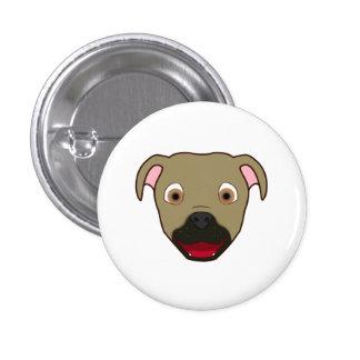 Buckskin Pitbull 3 Cm Round Badge