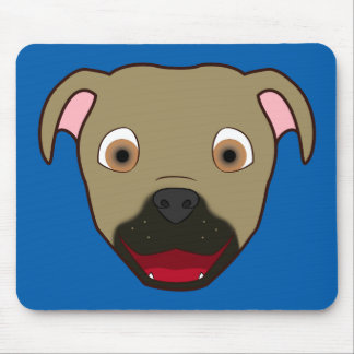 Buckskin Pitbull Face Mouse Pad