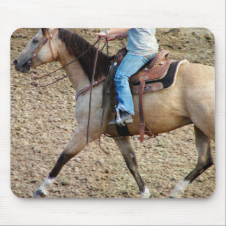 Buckskin Rodeo Horse Mouse Pad