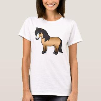 Buckskin Shetland Pony Cartoon Illustration Cute T-Shirt
