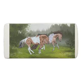 Buckskin Tobiano Paint Horses Eraser