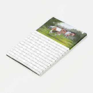 Buckskin Tobiano Paint Horses Post-it Notes