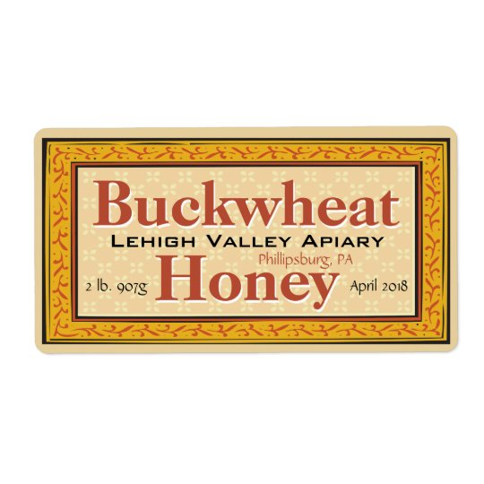 Buckwheat Honey Jar Customised