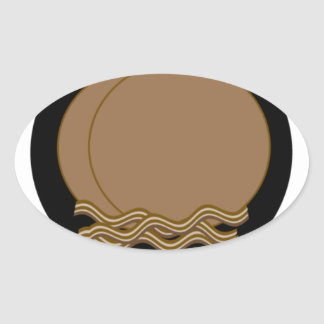 Buckwheat pancakes & bacon oval sticker