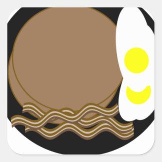 Buckwheat pancakes, eggs & bacon stickers