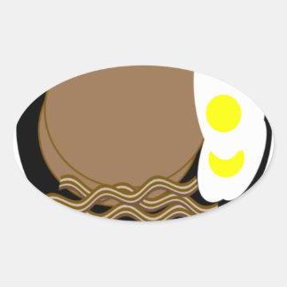 Buckwheat pancakes eggs bacon oval sticker