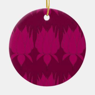 bud pinks round ceramic decoration