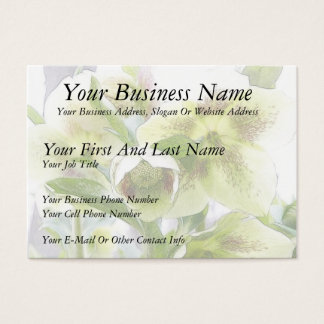 Bud To Blossom - White Hellebores Business Card