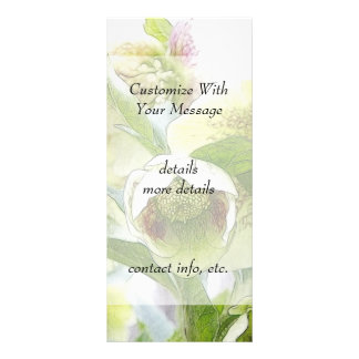 Bud To Blossom - White Hellebores Custom Rack Card