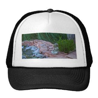 Buda meditating by the stream mesh hats