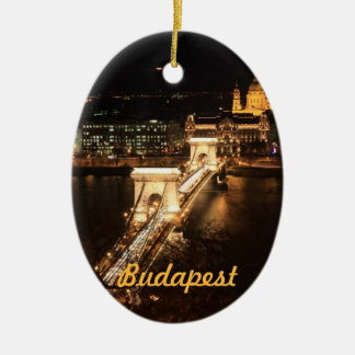 Budapest, banks of the Donau by night Christmas Ornament