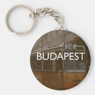 Budapest Basic Round Button Key Ring