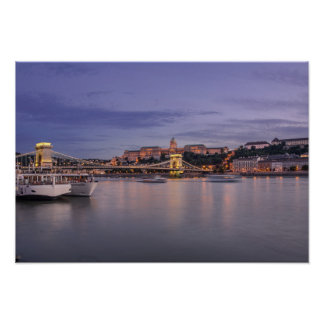 Budapest by night poster