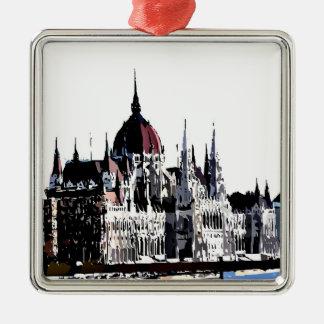 Budapest castle christmas ornament