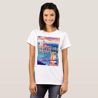 Budapest, Chain Bridge, vintage T-Shirt