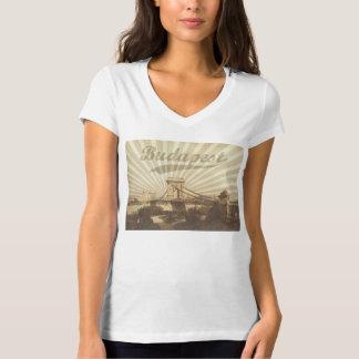 Budapest Chain Bridge, Vintage T-Shirt