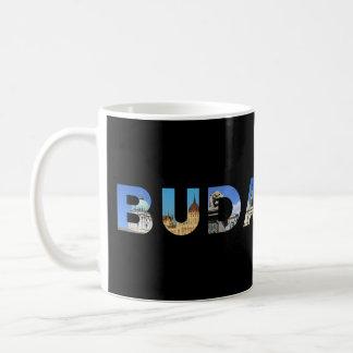 budapest city hungary landmark inside name text basic white mug