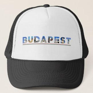 budapest city hungary landmark inside name text trucker hat